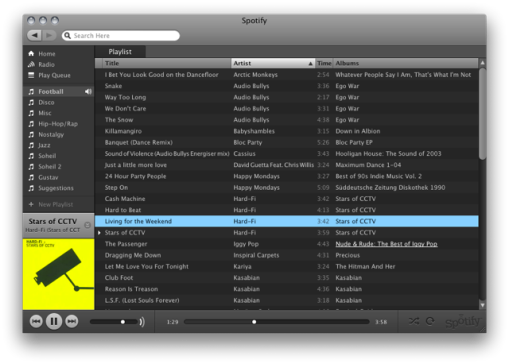 Spotify interface.